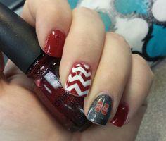 Nebraska Husker nails! Do this for any favorite team- love it!