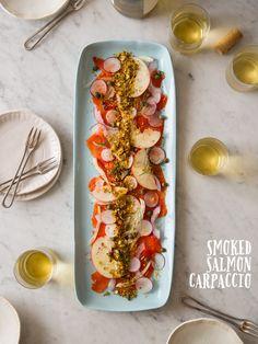 スモークサーモンのカルパッチョのレシピ