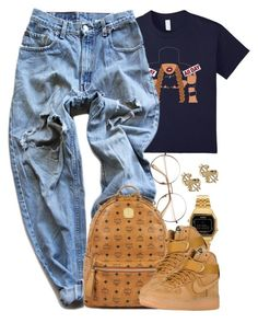"""""""Untitled #1544"""" by power-beauty ❤ liked on Polyvore featuring Levi's, MCM, Casio and NIKE"""