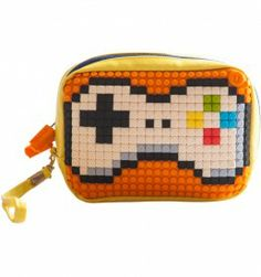 Upixel Clutch. Upixel diy accessories allow you to make your own design through 24 colours pixel chips. Every day new funky design if you like!