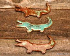 Cajun Alligator Aquarium Decoration or Hanging Ornament by  Hurricane Pottery on Etsy, $7.00