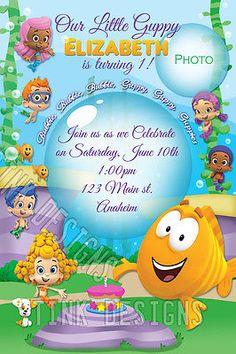 Bubble Guppies Invitation EDITABLE TEXT Customizable Bubble