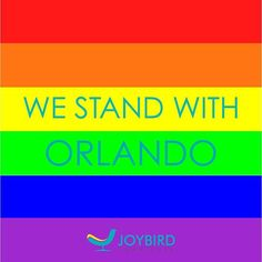 We are still utterly shocked and horrified about the events that took place in #Orlando this past Sunday morning. Through the sadness and horror, we must offer our support to the victims of this senseless tragedy and to the LGBTQ community as a whole. Orlando, we stand with you.