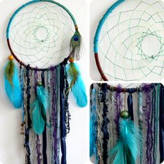The Peacock Native Woven Dreamcatcher by eenk on Etsy $49.00