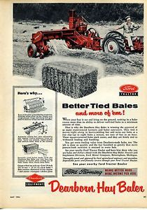 1950 ford tractor hay baler ad | Details about 1954 Ford Tractor Dearborn Hay Baler Magazine Ad