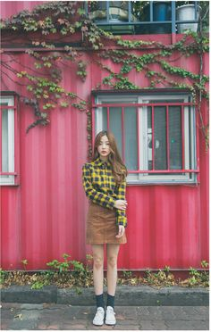 Frend Plaid Shirt | Korean Fashion