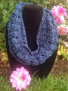 Undeniable Glitter: Sapphire Infinity Scarf- Crochet Pattern