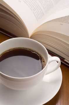 A cup of coffee and a good book, even the picture is relaxing.