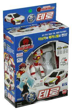 Turning Mecard W Junior Jr. TERO Transformer Car Robot Korea TV Animation Toy #Sonokong
