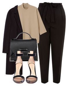 """""""Untitled #6482"""" by laurenmboot ❤ liked on Polyvore featuring New Look, Monki, Zara and Gianvito Rossi"""
