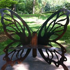 Butterfly bench at the Botanic Gardens