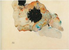 "Egon Schiele ""Abbraccio"" 1912"