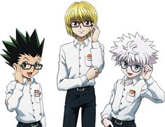 Killua Zoldyck , Gon Freecss and Kurapika  - HUNTERxHUNTER - Hunter x Hunter - hxh - anime - anime guy