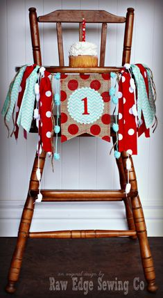 SOCK MONKEY Birthday Age High Chair Highchair Birthday Banner/Party/Photo Prop/Bunting/Backdrop/Chair Banner/Cake Smash/Red and Aqua/First on Etsy, $28.95