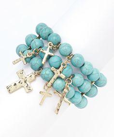 Turquoise Beaded Stretch Bracelet