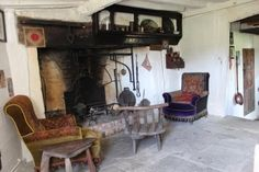 The fireplace with all the accoutrements...