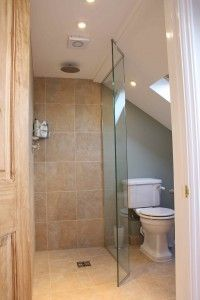 Loft conversion ensuite with wet room