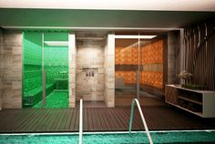 Himalayan Salt Sauna and Steam Room within seperate his and hers thermal facilities. #heavenlyspabali