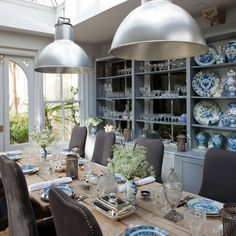 Dining room design ideas, whatever the space and budget you have to play with. Find inspiration for your dining room design with these looks and styles Classic Dining Room, Dining Room Blue, Dining Room Design, Dining Rooms, Dining Table, Dining Area, Conservatory Dining Room, Conservatory Ideas, Glass Extension
