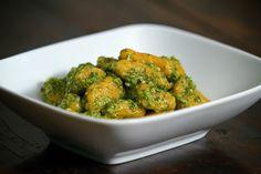 Local Food Rocks: Sweet Potato Gnocchi with Cilantro Almond Pesto