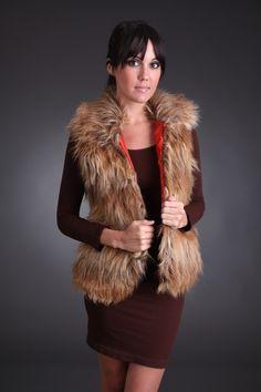 Faux Neutral Fur Vest #sophieandtrey #shop #online #fur #vest #fall #winter #fashion #style #cyber #monday