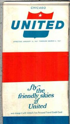 United Airlines Flights from Chicago 1967 | eBay