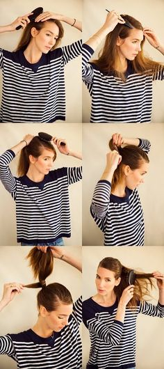 How To: Sleek parted ponytail