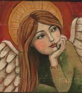 Peaceful Angel Original Painting by Teresa Kogut