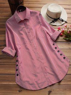 Plus Size Blouses, Plus Size Tops, Mode Hijab, Kurta Designs, Blouse Vintage, Vintage Floral, Vintage Dresses, Blouse Styles, Ladies Dress Design