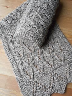 Easy lace scarf pattern entirely in both row by row written and charted instructions. Stitches are all basic to lace, the toughest being joining the two sections in a grafting stitch such as Kitchener. Don't let that stop you though. If you've never done any grafting, time to jump in. Give me a holler, I'm here to help.
