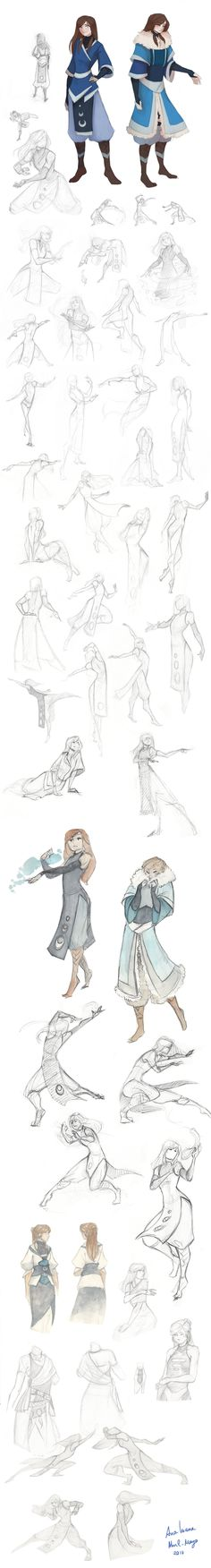 -Waterbender sketches- by Zaiisey