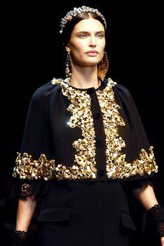 Bianca Balti during the Dolce & Gabbana FW13 fashion show