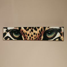 Leopard Eyes Canvas Art.  $109.00 from Touch of Class.