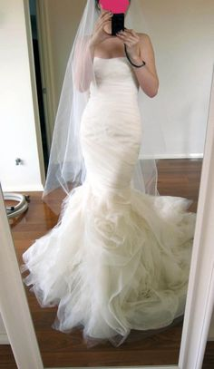 #mermaid wedding dress bridal gown #elegant wedding dresses #sexy bridal gown