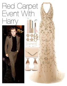 """""""Red Carpet Event with Harry"""" by onedirectionimagineoutfits99 ❤ liked on Polyvore featuring Accessorize, Marchesa, Zara, Jemma Wynne, Chanel, Noir Jewelry, Stila and Reeds Jewelers"""