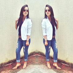 #look #blazer #jeans #scarpin