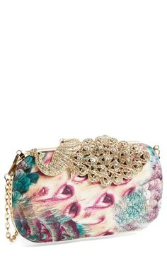Free shipping and returns on Natasha Couture Peacock Minaudiere at Nordstrom.com. An ornate peacock embellishment fans across a lavish, feather-print minaudiere that makes a stunning statement.