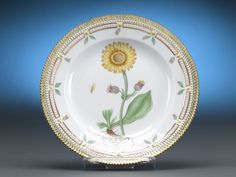 Flora Danica Dinner Plates, Set of 12
