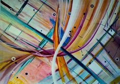 Abstract art work by Luciana Barroso, via Behance