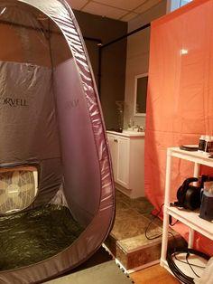 spray tan room:)