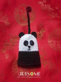 Items similar to Crocheted Amigurumi Keyholder - Lord of the Keys - Kungfu Panda on Etsy Crochet Jewellery, Jewelry Art, Unique Jewelry, Kung Fu Panda, Crochet Things, Cute Panda, Unique Presents, Crochet Hats, Christmas Ornaments