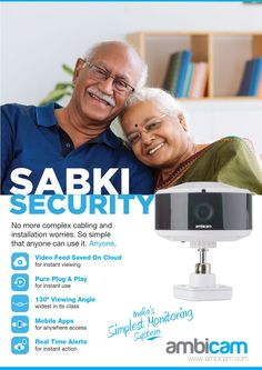 secure home with Ambicam smart cloud camera Home Monitor, Cctv Surveillance, Wireless Security, Use Case, Cameras, No Worries, Clouds, Simple, Camera
