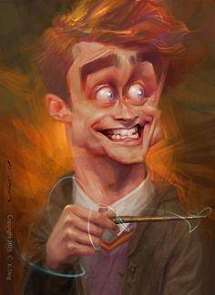 Caricatura de Daniel Radcliffe. #humor #risa #graciosas #chistosas #divertidas