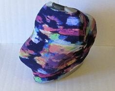Multicolor Stretchy Car Seat Cover / Nursing Cover / Car Seat Canopy / Stretchy Carseat Cover /from GingerSunshine on Etsy. $21