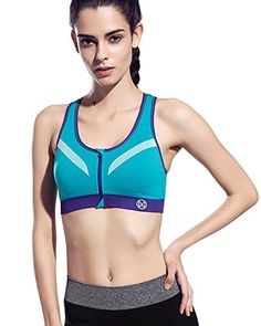 ff1ac9343e8 BINAND 2017 New Women Zipper Sports Bra Push Up Shockproof Top Underwear  with Inner Pad Running Gym Fitness Jogging Yoga shirt