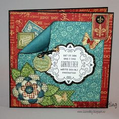 Lindas papercrafting: To kort med restepapir