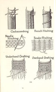 needle hitching tutorial - Google Search