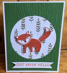 Used Stampin Up' Foxy Friends stamps
