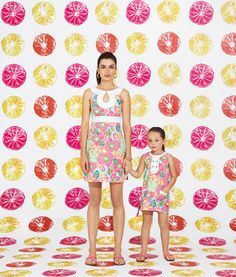 Lilly Pulitzer Spring '13- Candice Dress and Little Lilly Classic Shift in Multi Ice Cream Social