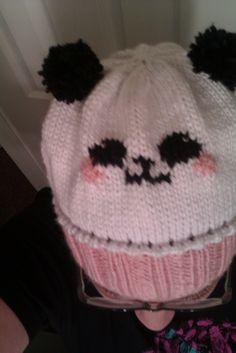 Panda hat for Lena